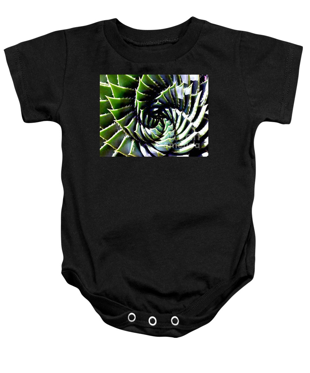 Cactus Baby Onesie featuring the photograph Cactus by Dragica Micki Fortuna
