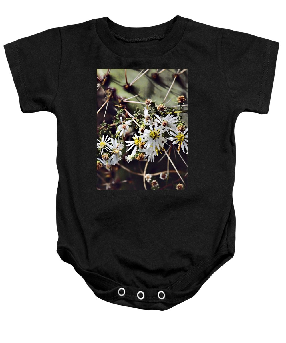 Cactus Baby Onesie featuring the photograph Cactus Flowers by Scott Wyatt
