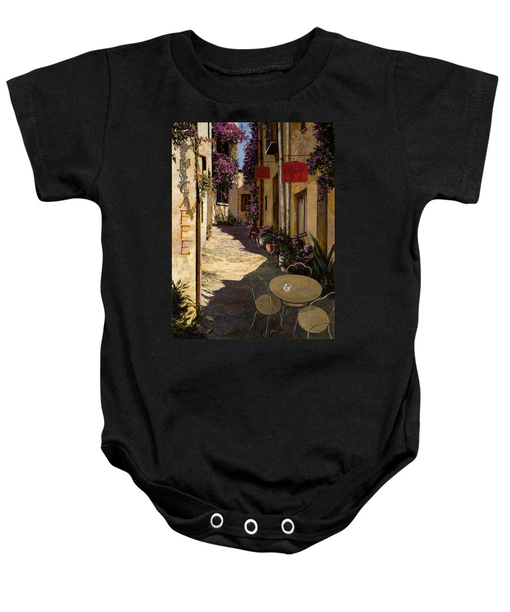 Caffe Baby Onesie featuring the painting Cafe Piccolo by Guido Borelli