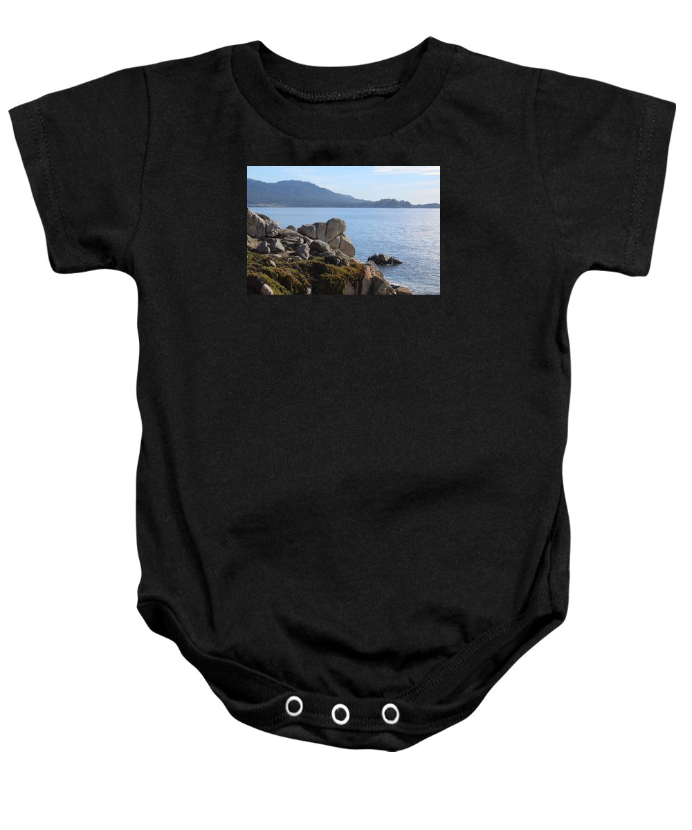 Ocean Baby Onesie featuring the photograph California Coast by Bill Dalleske