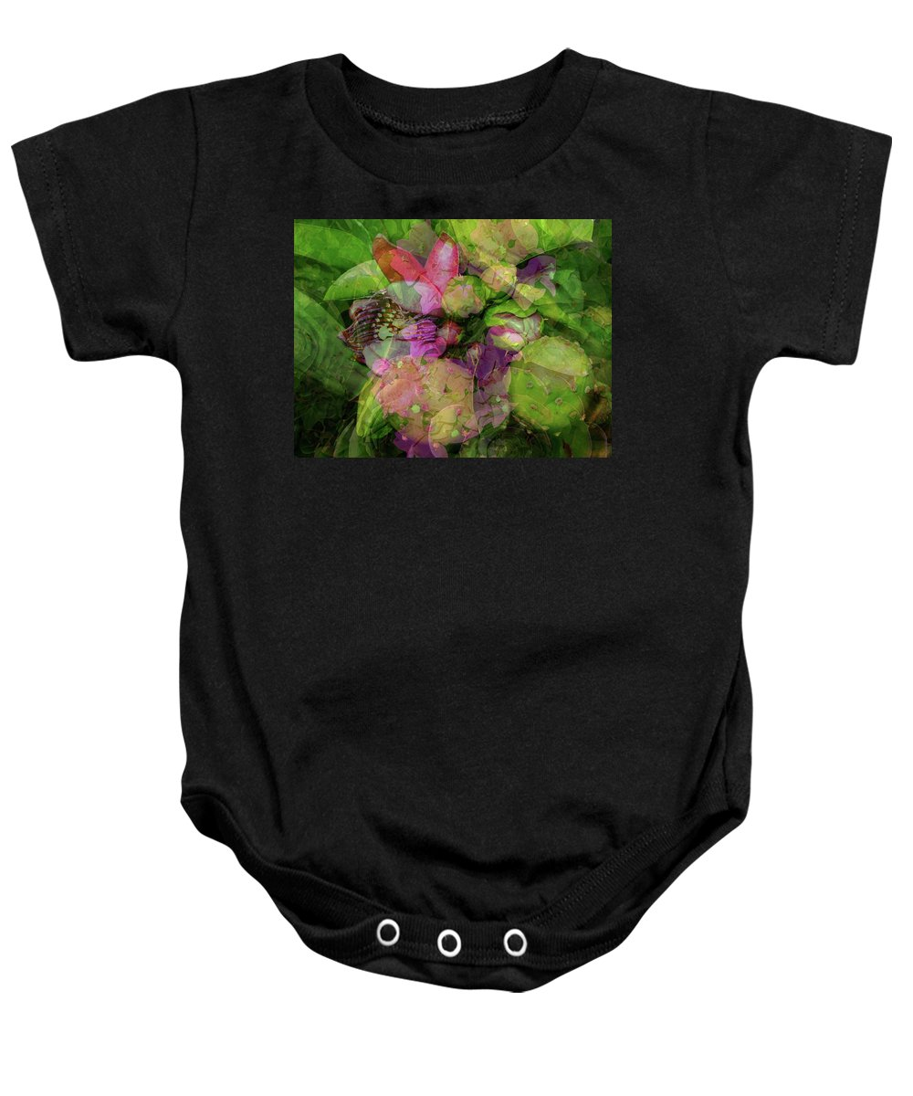 Passion Baby Onesie featuring the digital art California Collage by Janet Duffey