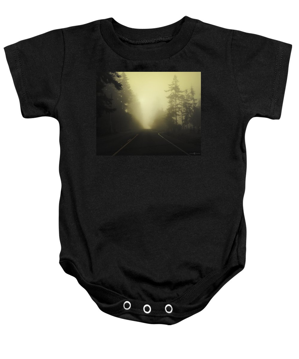 Fog Baby Onesie featuring the photograph Camano Island Fog by Tim Nyberg