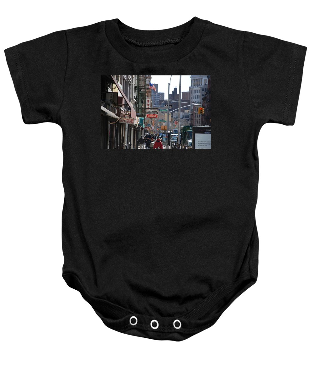 Architecture Baby Onesie featuring the photograph Canal And Eldridge by Rob Hans