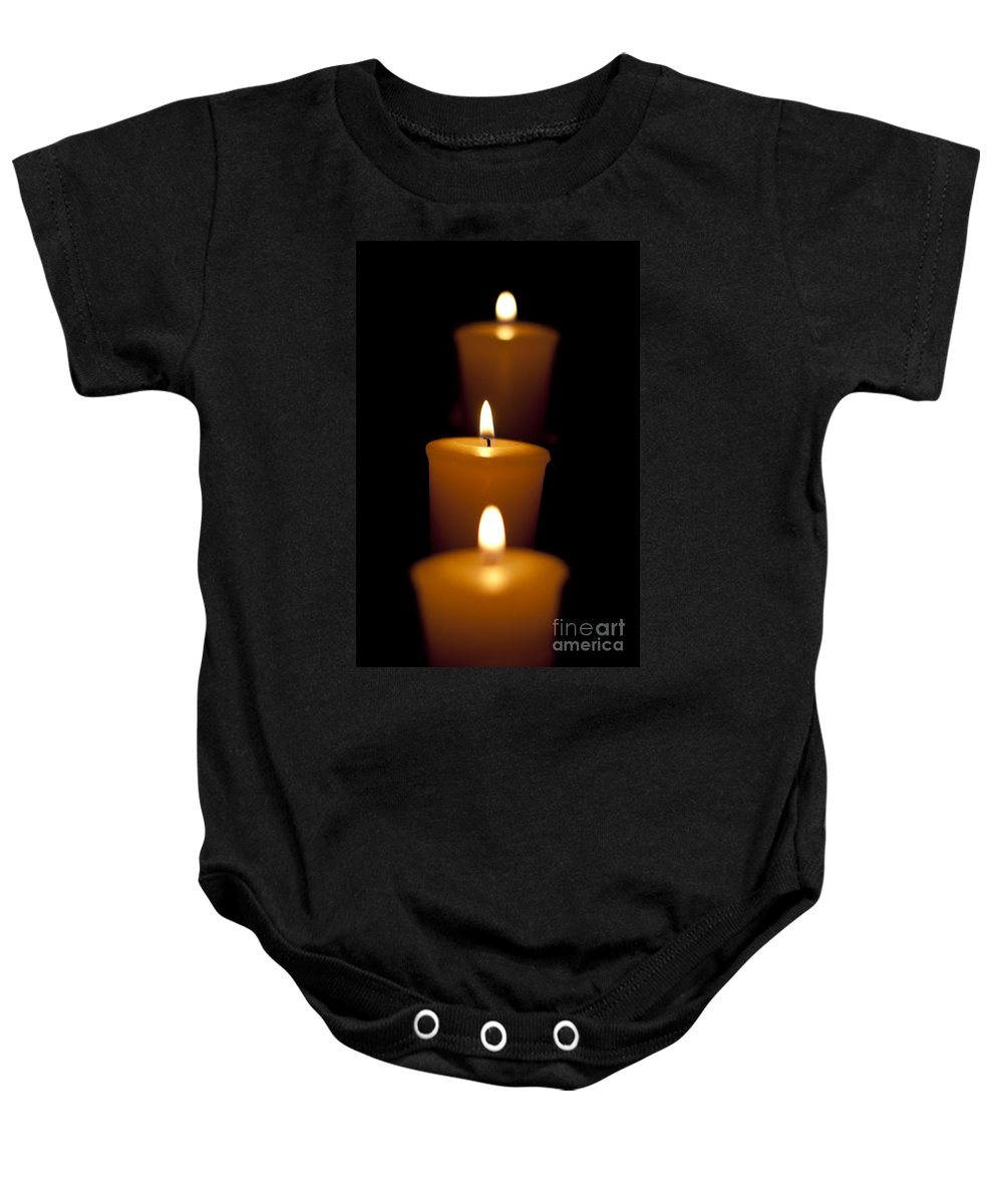 Alight Baby Onesie featuring the photograph Candelabra by Jorgo Photography - Wall Art Gallery