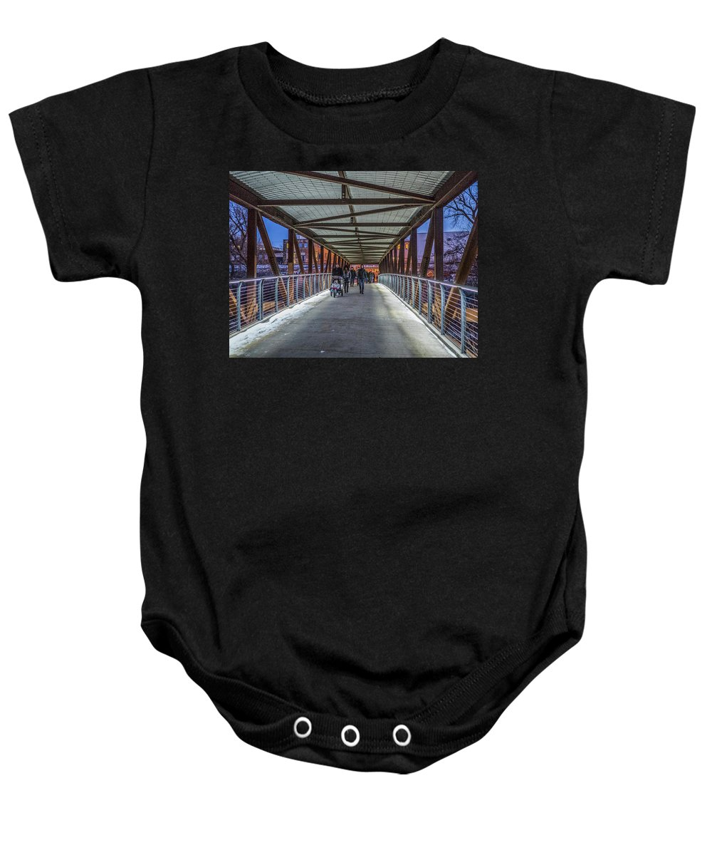 Hank Aaron Trail Baby Onesie featuring the photograph Candlelight Hike by Kristine Hinrichs