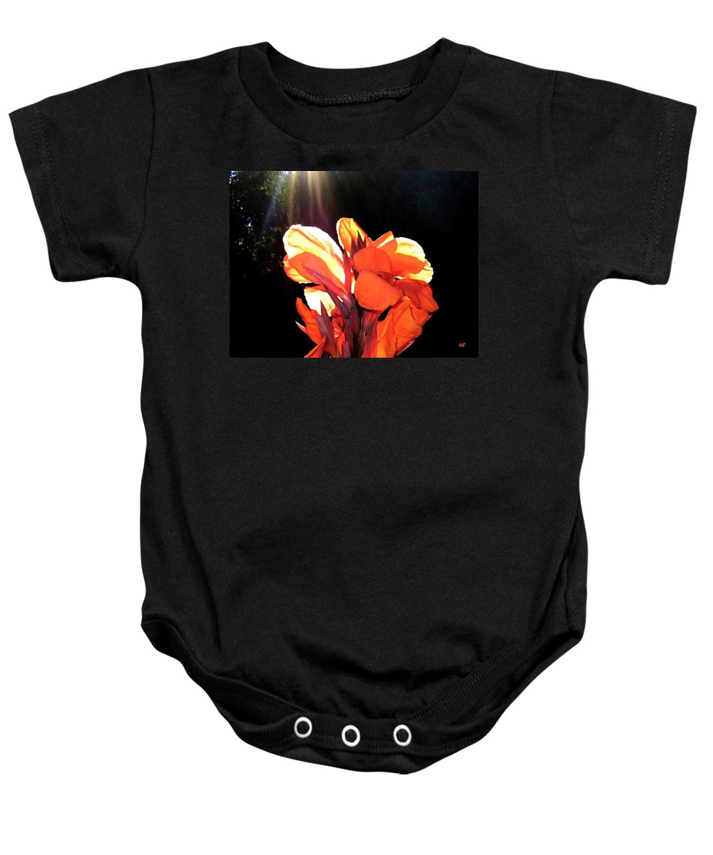 Canna Lily Baby Onesie featuring the photograph Canna Lily by Will Borden