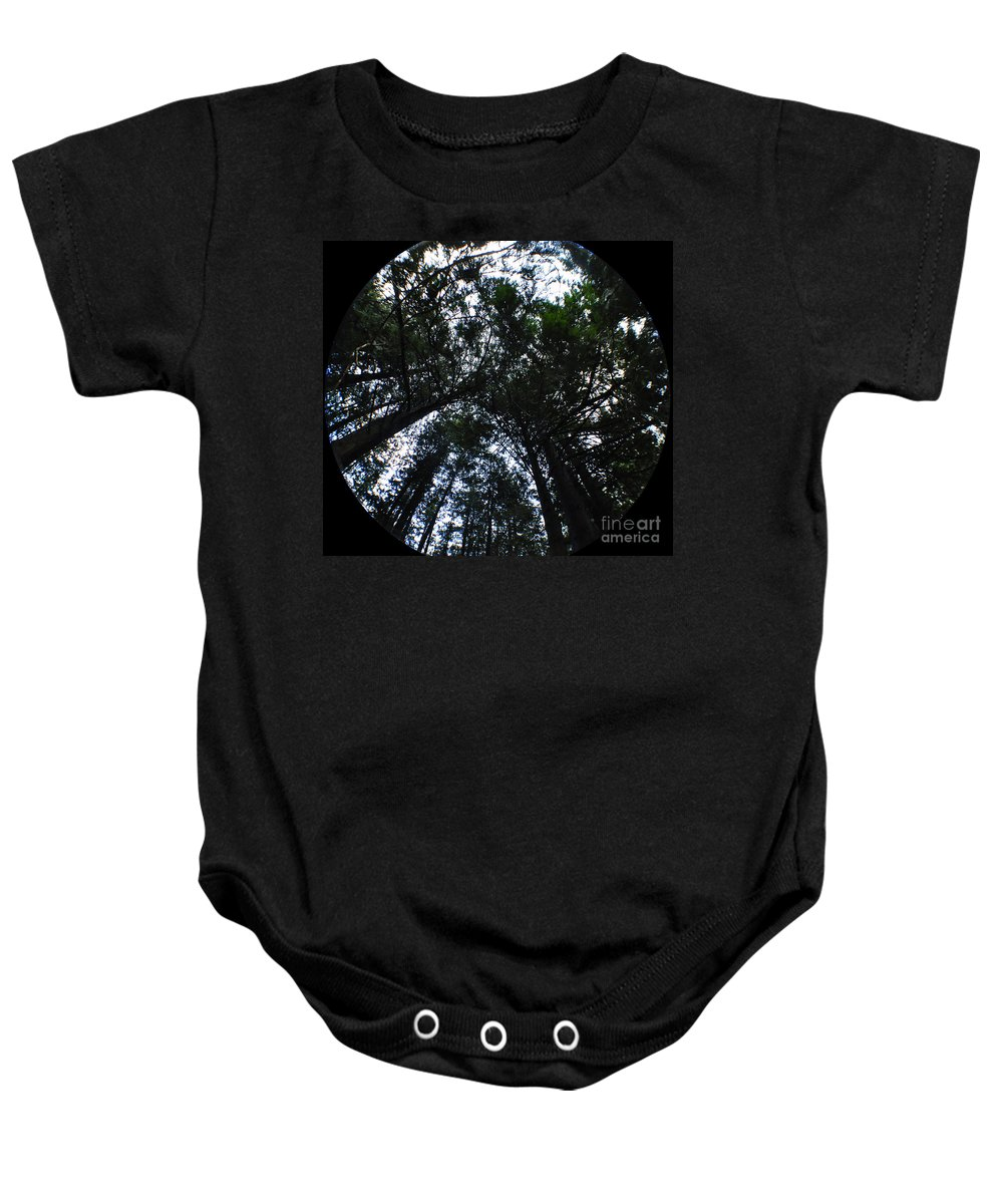 Clay Baby Onesie featuring the photograph Canopy by Clayton Bruster