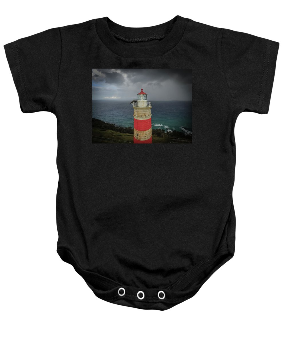 Lighthouse Baby Onesie featuring the photograph Cape Moreton Light by Keiran Lusk