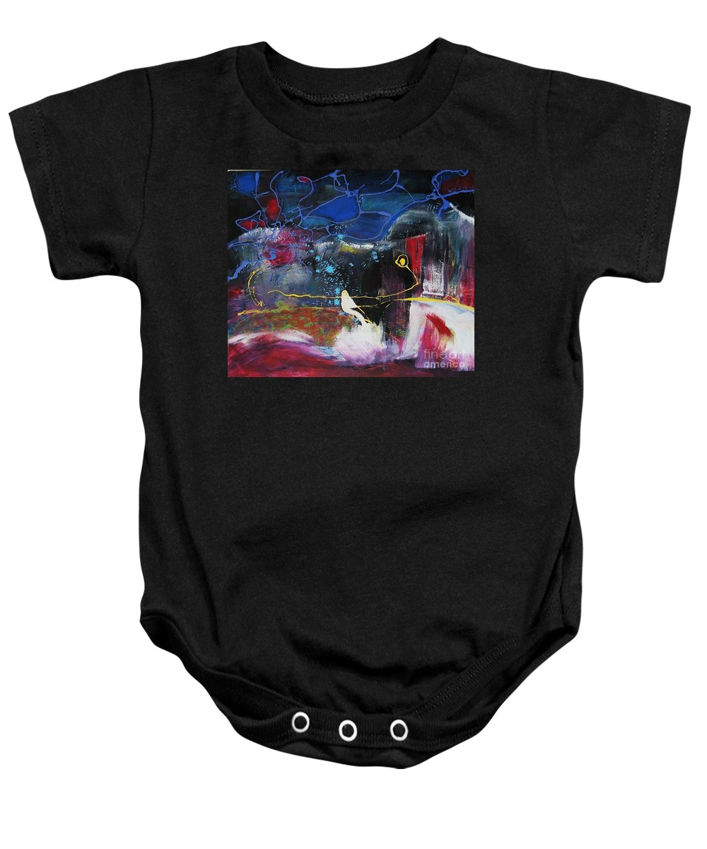 Abstract Baby Onesie featuring the painting Cape Spear by Seon-Jeong Kim