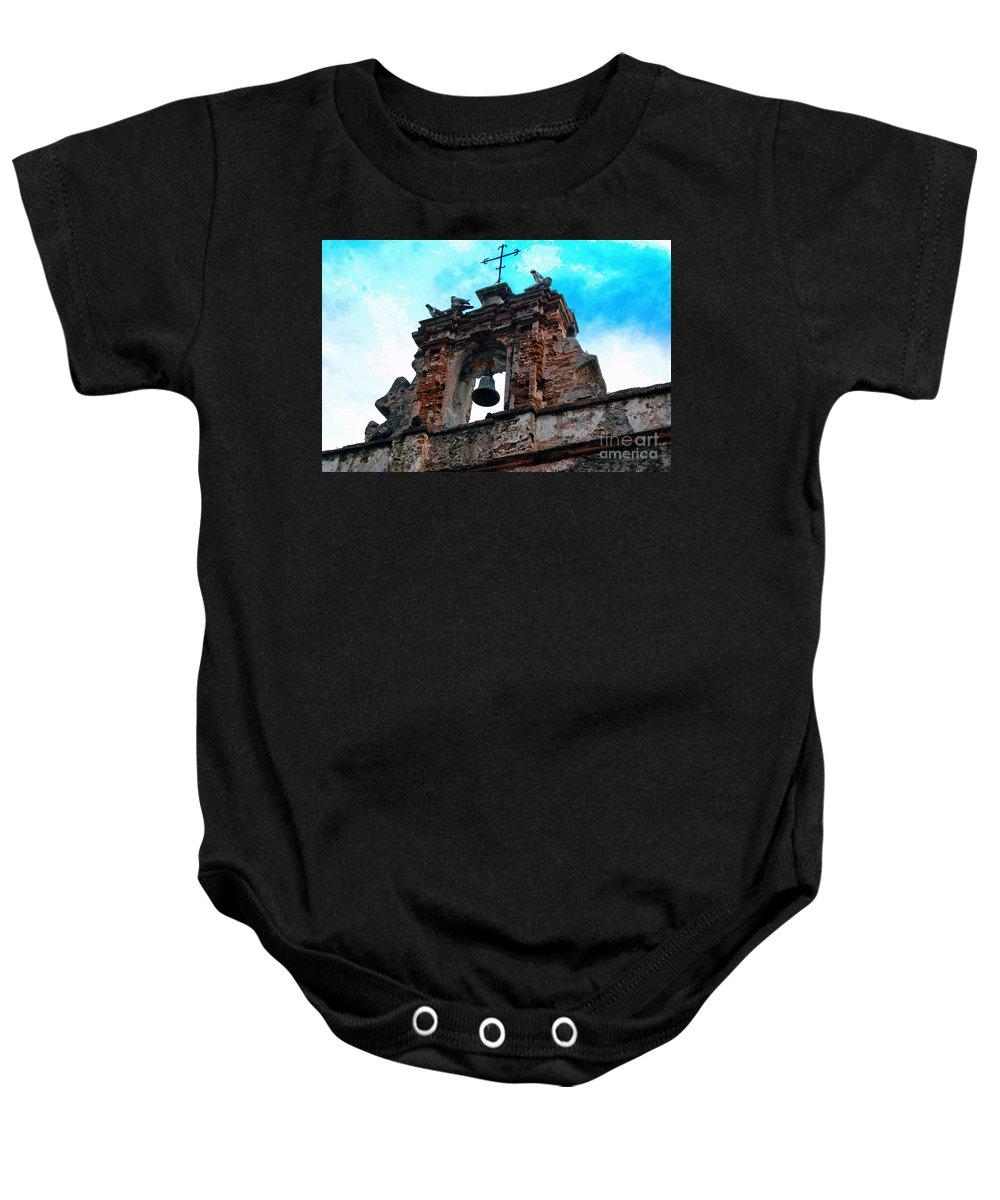 San Juan Baby Onesie featuring the photograph Capilla De Cristo  by Debbi Granruth