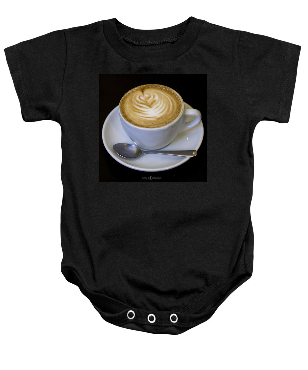 Coffee Baby Onesie featuring the photograph Cappuccino by Tim Nyberg