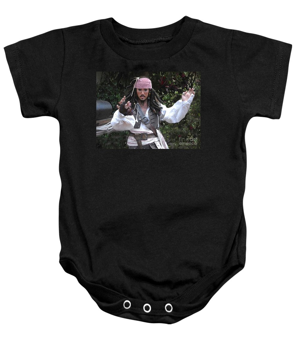 Captain Baby Onesie featuring the photograph Captain Sparrow by David Lee Thompson