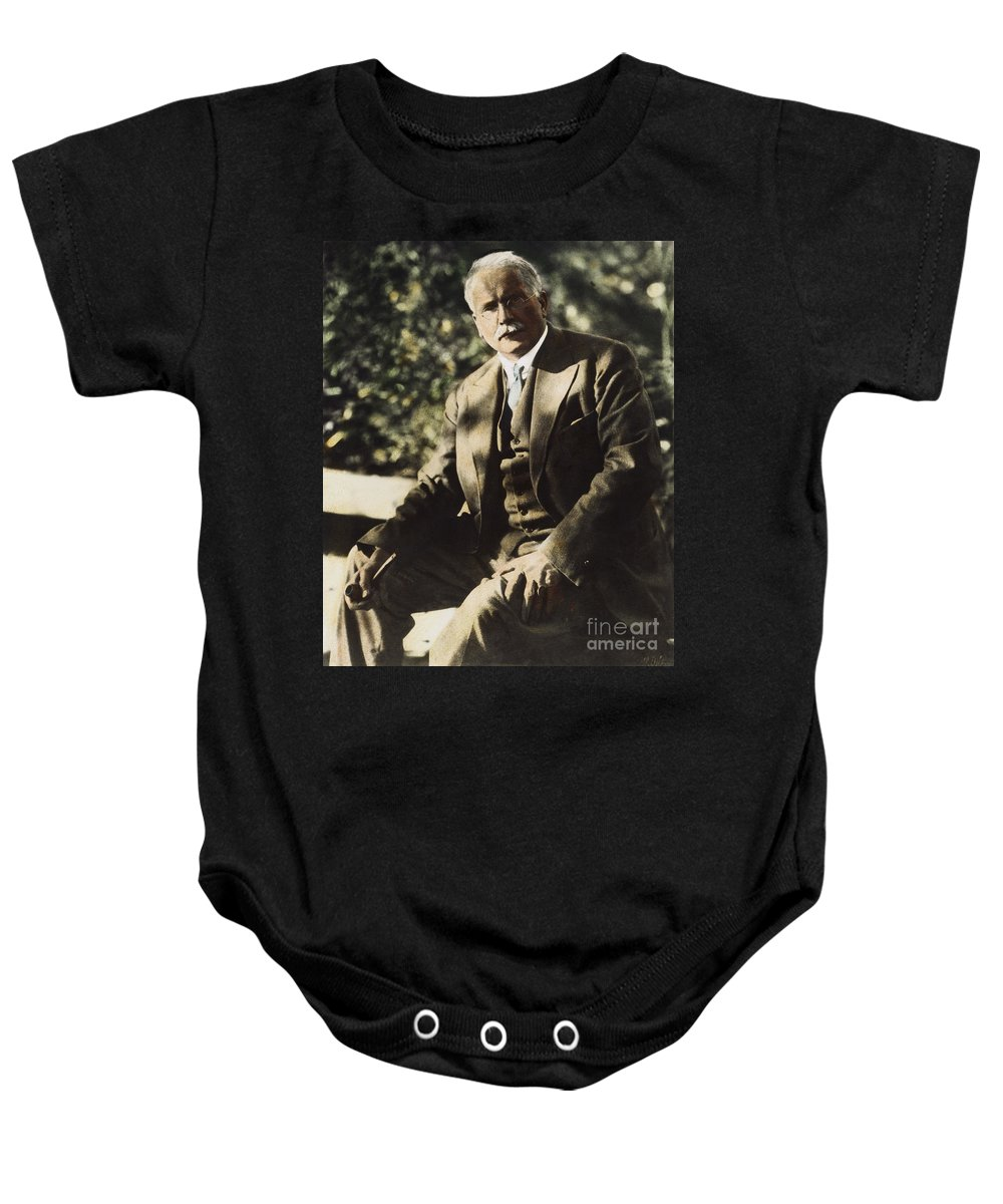 20th Century Baby Onesie featuring the photograph Carl G. Jung by Granger