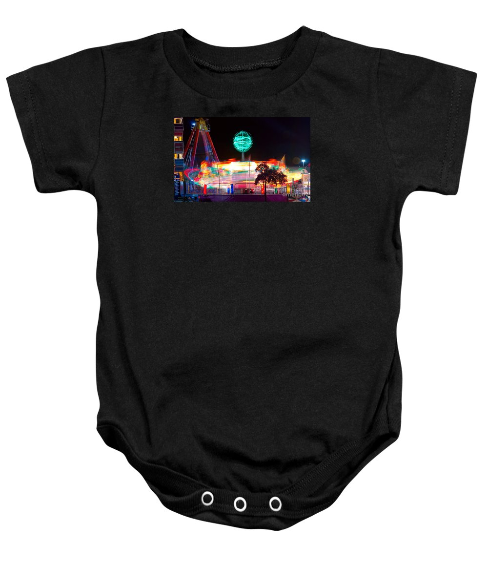 Baby Onesie featuring the photograph Carnival Excitement by James BO Insogna