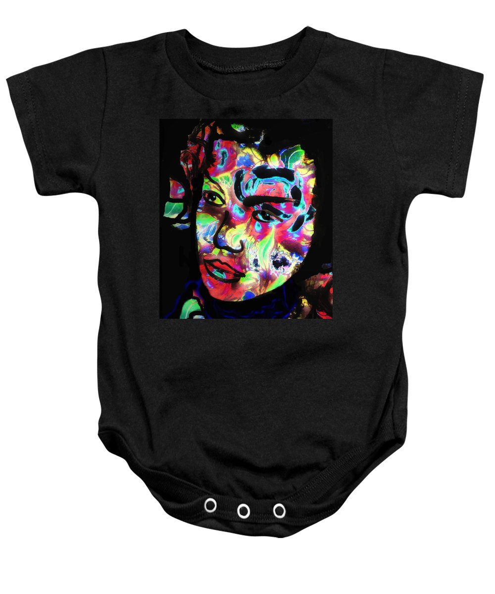 Carnival Woman Baby Onesie featuring the mixed media Carnival by Natalie Holland