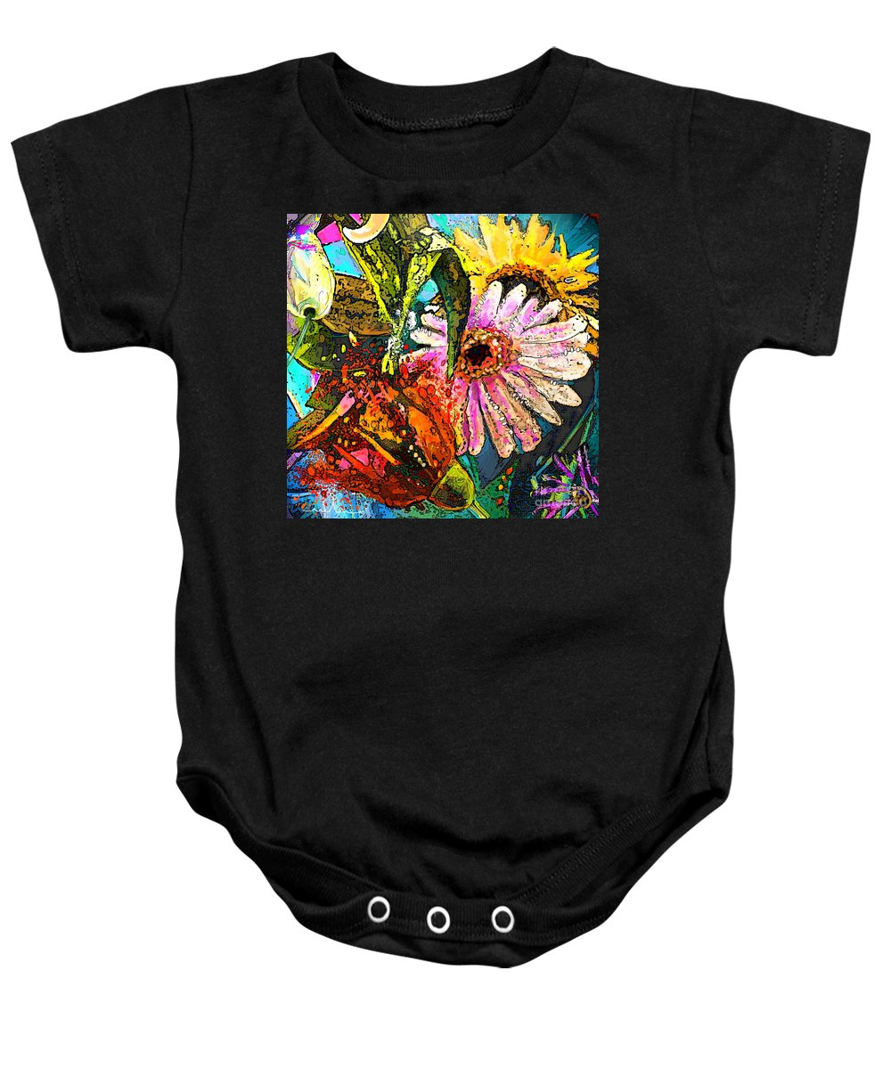 Flowers Painting Baby Onesie featuring the painting Carnivale Flori by Miki De Goodaboom