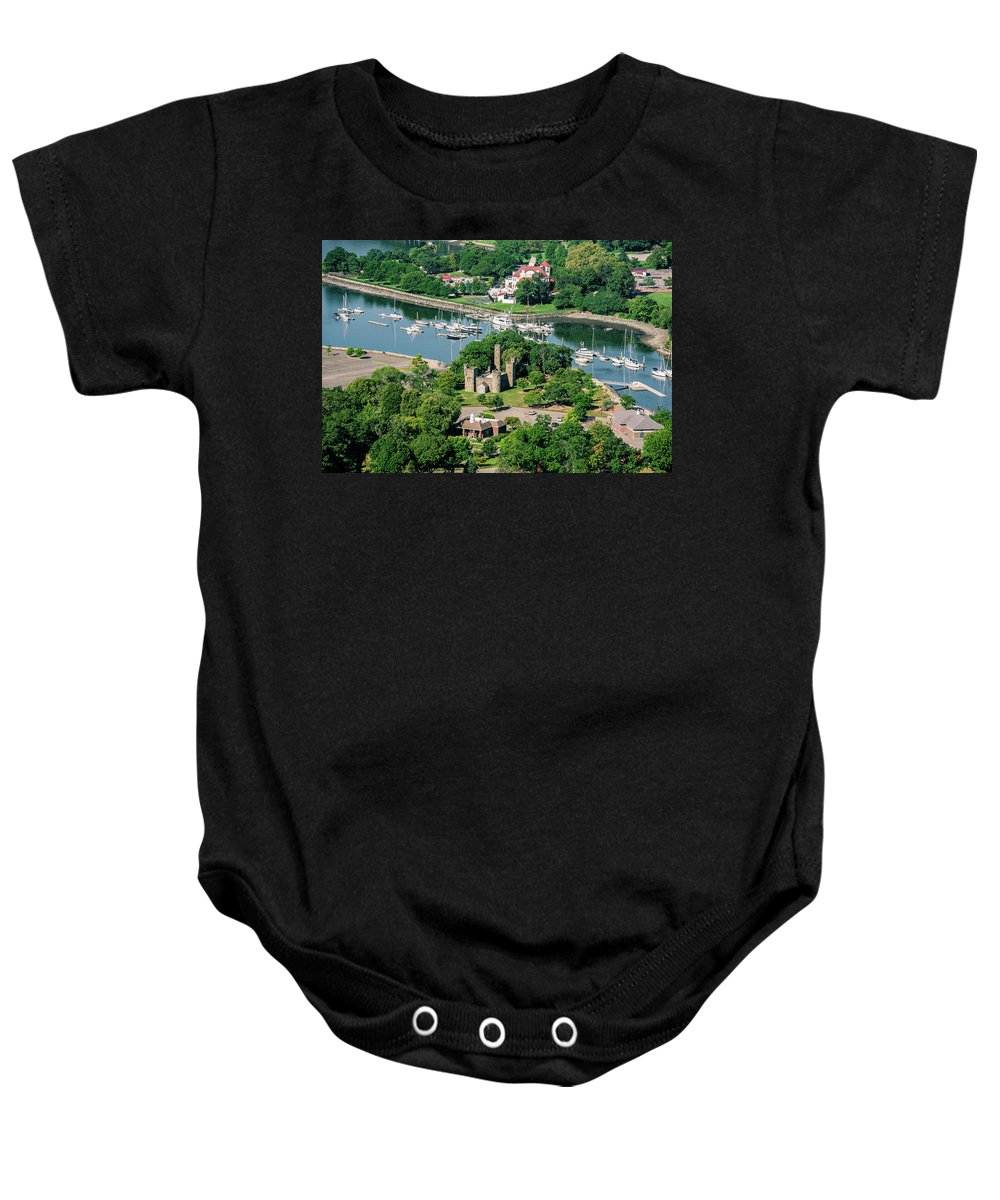 Glen Island Baby Onesie featuring the photograph Castle At Glen Island by Louis Vaccaro