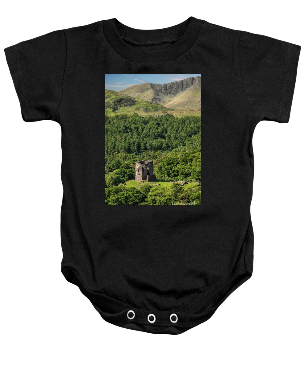 Castle Baby Onesie featuring the photograph Castle Dolbadarn by Adrian Evans