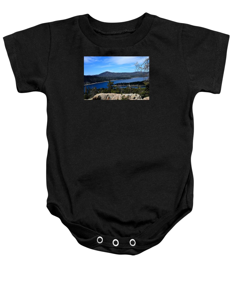 Baby Onesie featuring the photograph Castle Rock - Big Bear, Ca by Sherri Hasley