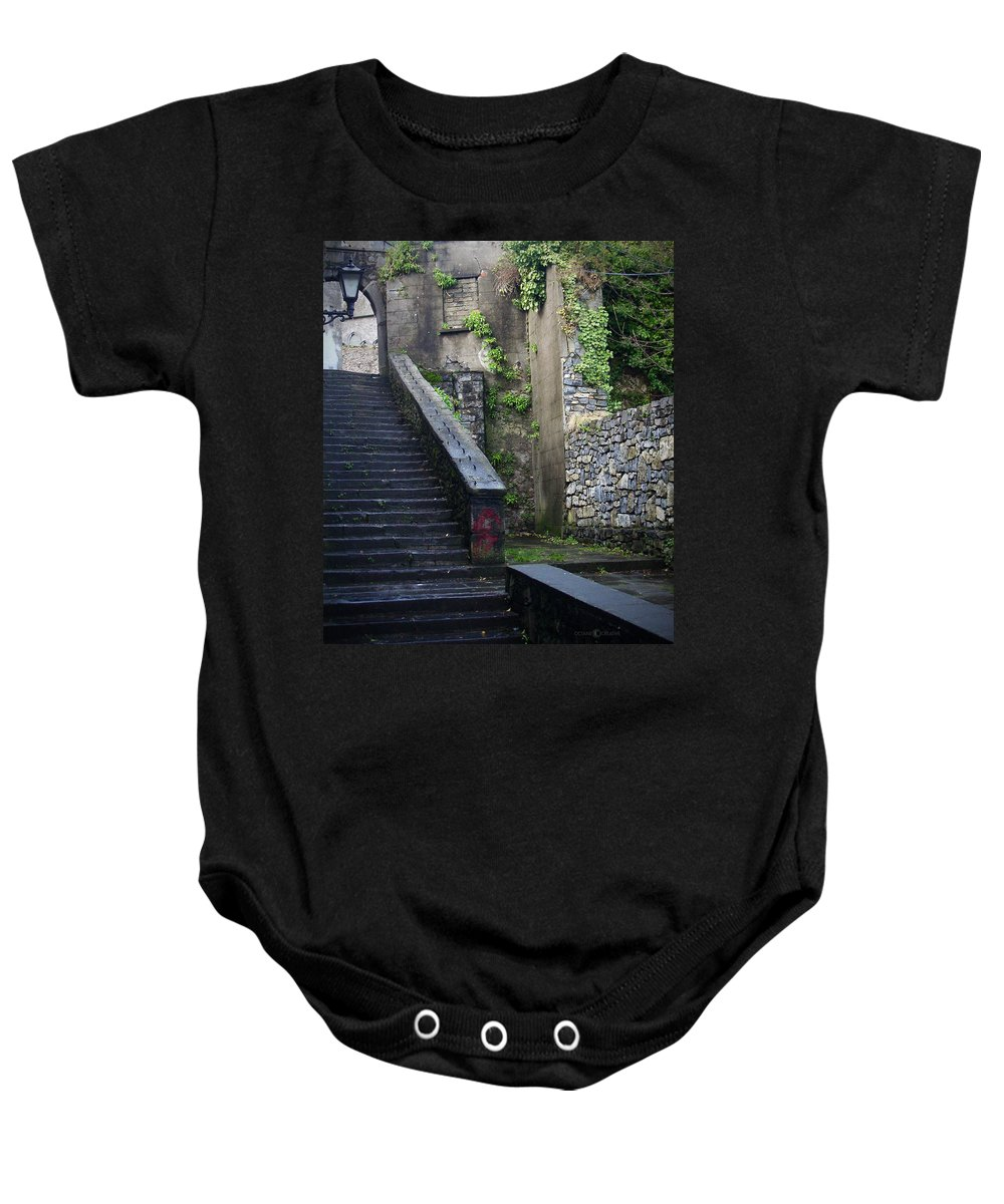 Stairs Baby Onesie featuring the photograph Cathedral Stairs by Tim Nyberg