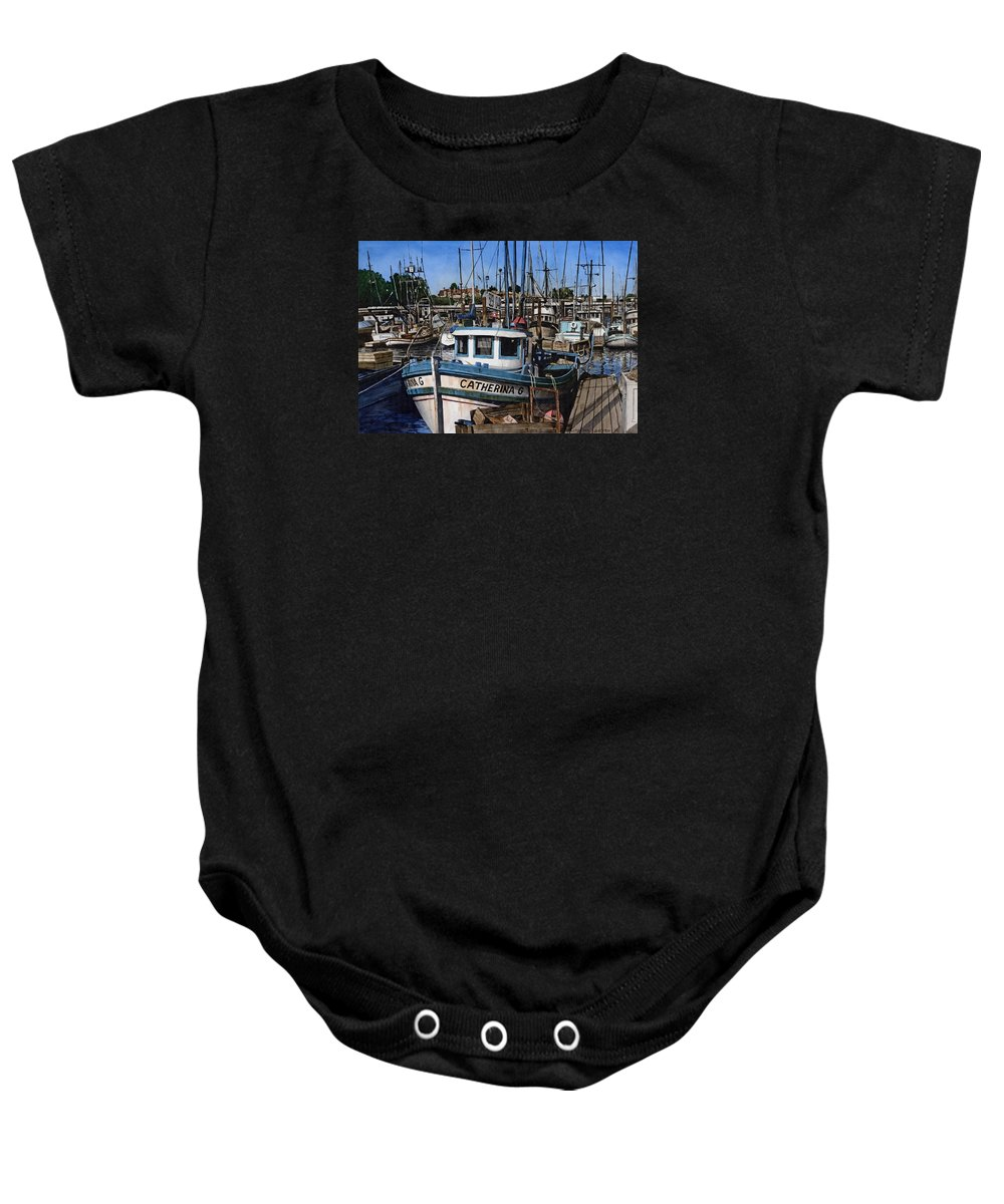 Transportation Baby Onesie featuring the painting Catherina G by James Robertson