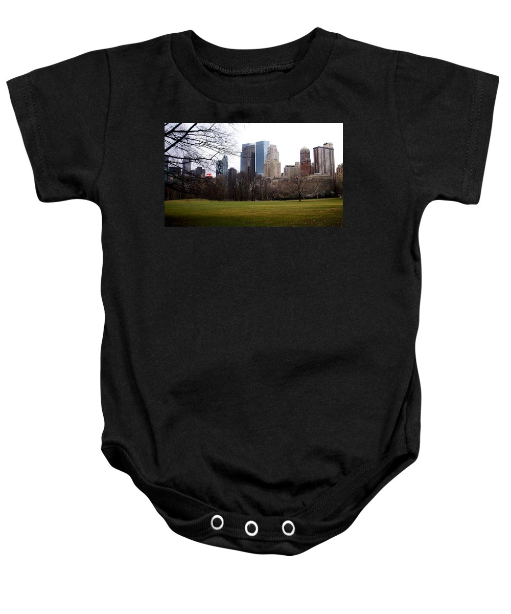 Central Park Baby Onesie featuring the photograph Central Park by Anita Burgermeister