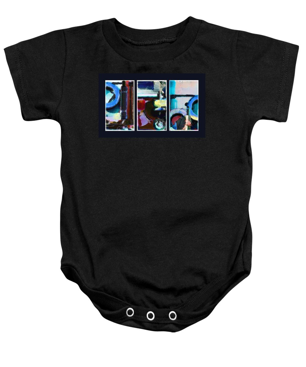 Abstract Baby Onesie featuring the digital art Centrifuge by Steve Karol