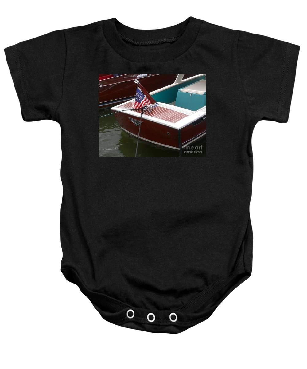 Boat Baby Onesie featuring the photograph Century Coronado by Neil Zimmerman