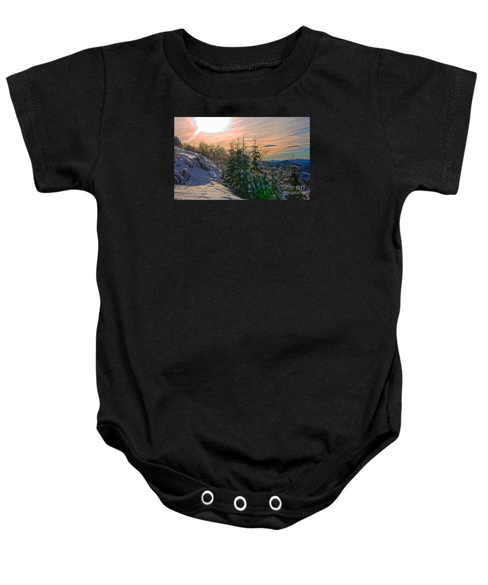 Certovica Baby Onesie featuring the photograph Certovica 2 V2 by Alex Art and Photo