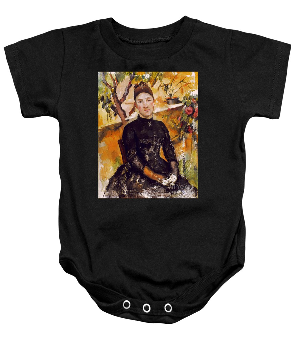 1890 Baby Onesie featuring the photograph Cezanne: Mme Cezanne, 1890 by Granger
