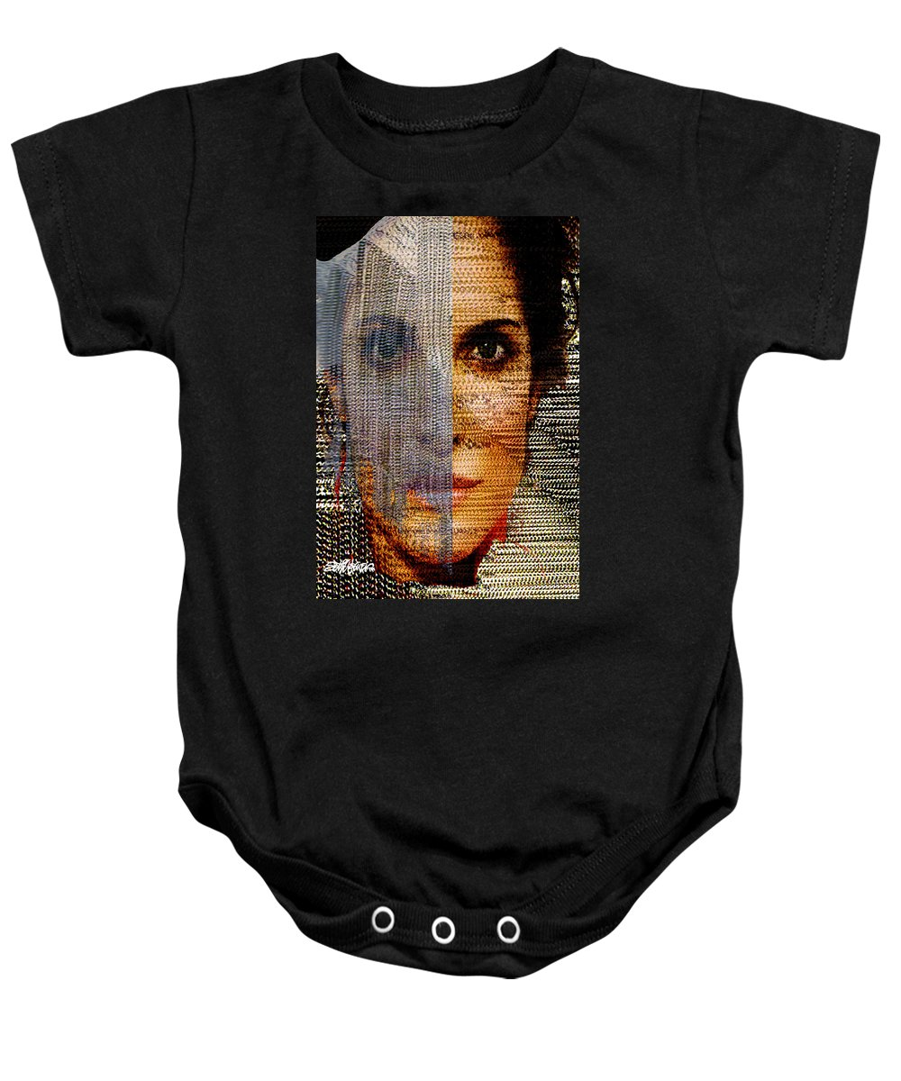 Mysterious Baby Onesie featuring the digital art Chained Vixen by Seth Weaver