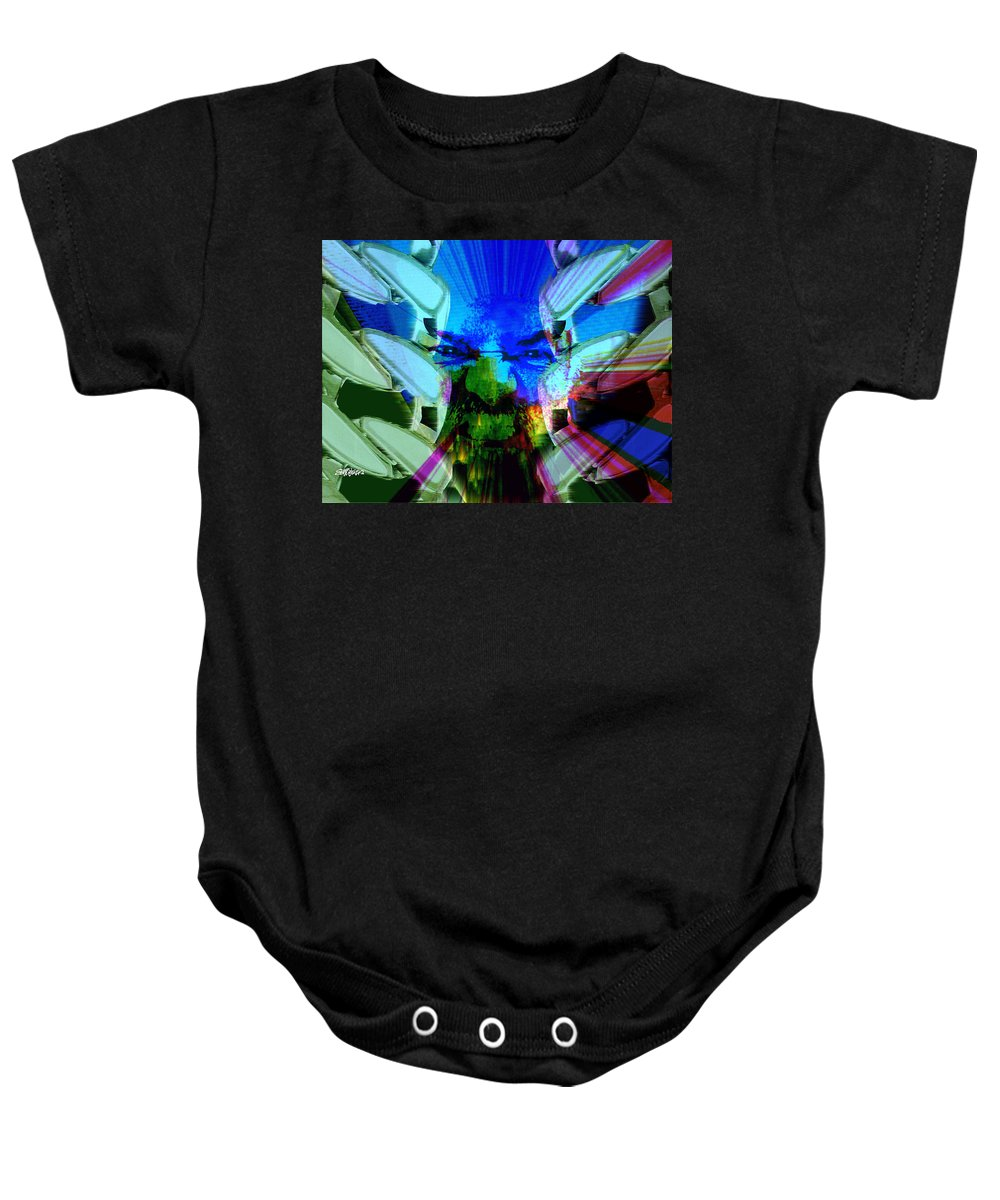 Terrorism Baby Onesie featuring the digital art Chains Of Terror by Seth Weaver