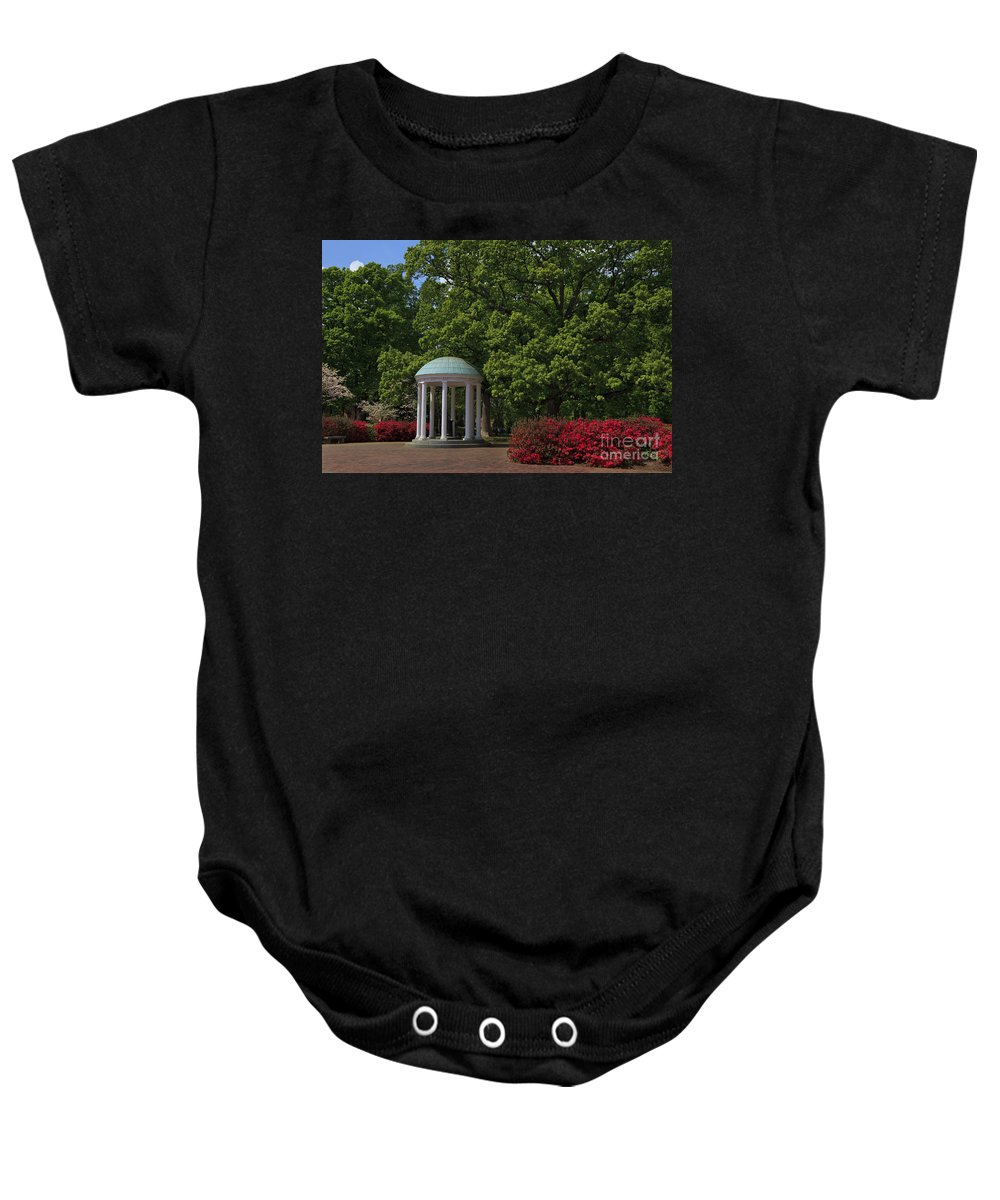 The Baby Onesie featuring the photograph Chapel Hill Old Well by Jill Lang