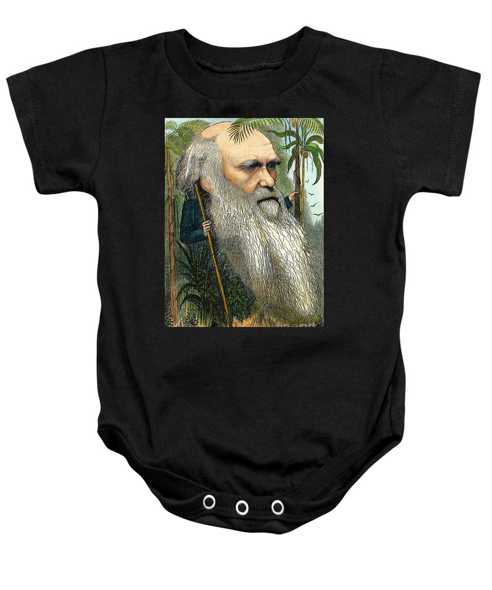 1872 Baby Onesie featuring the photograph Charles Robert Darwin by Granger