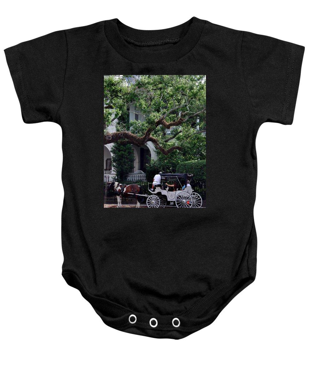 Charleston Baby Onesie featuring the photograph Charleston Buggy Ride by Skip Willits