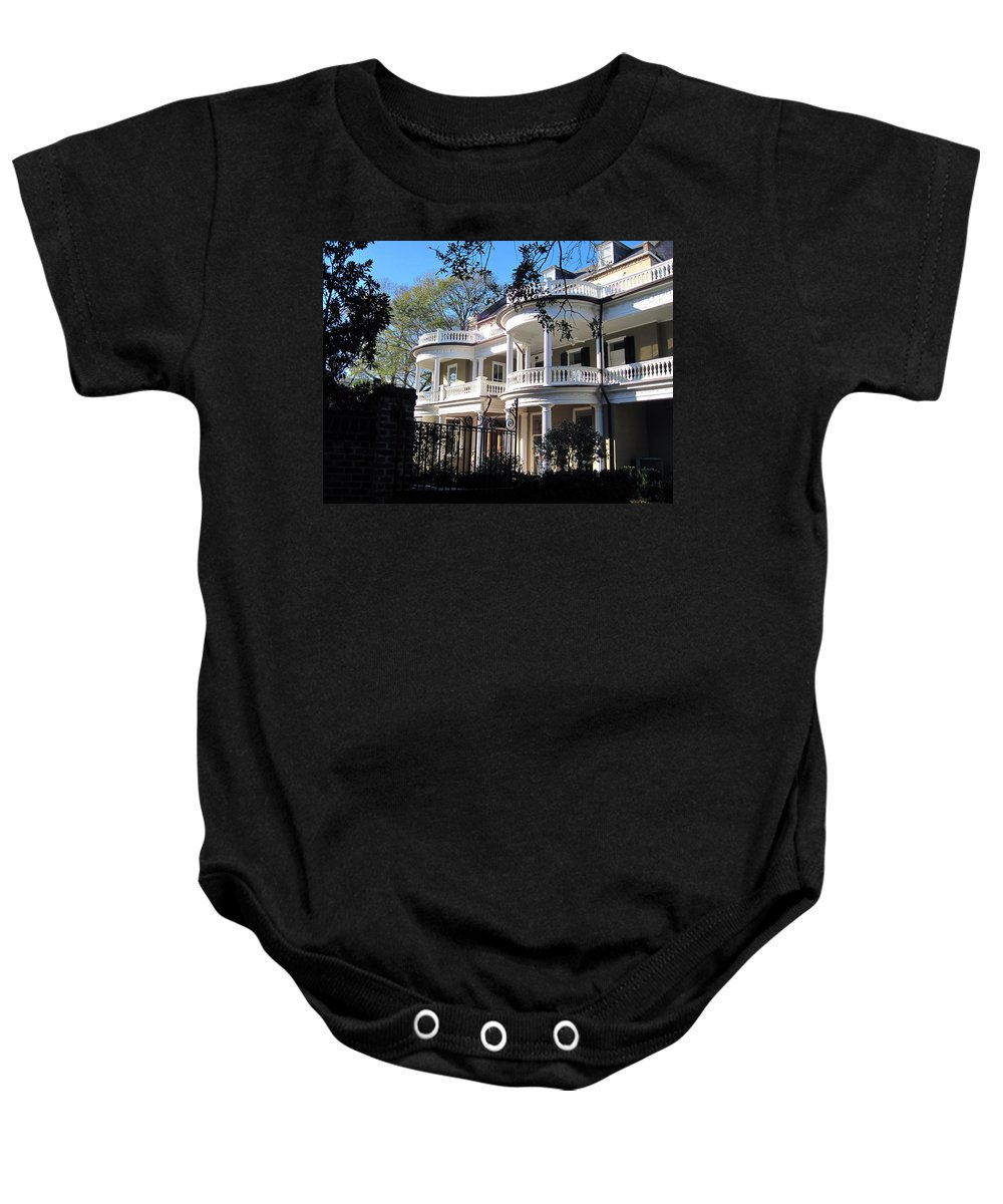 Photography Baby Onesie featuring the photograph Charlestons Beautiful Architecure by Susanne Van Hulst