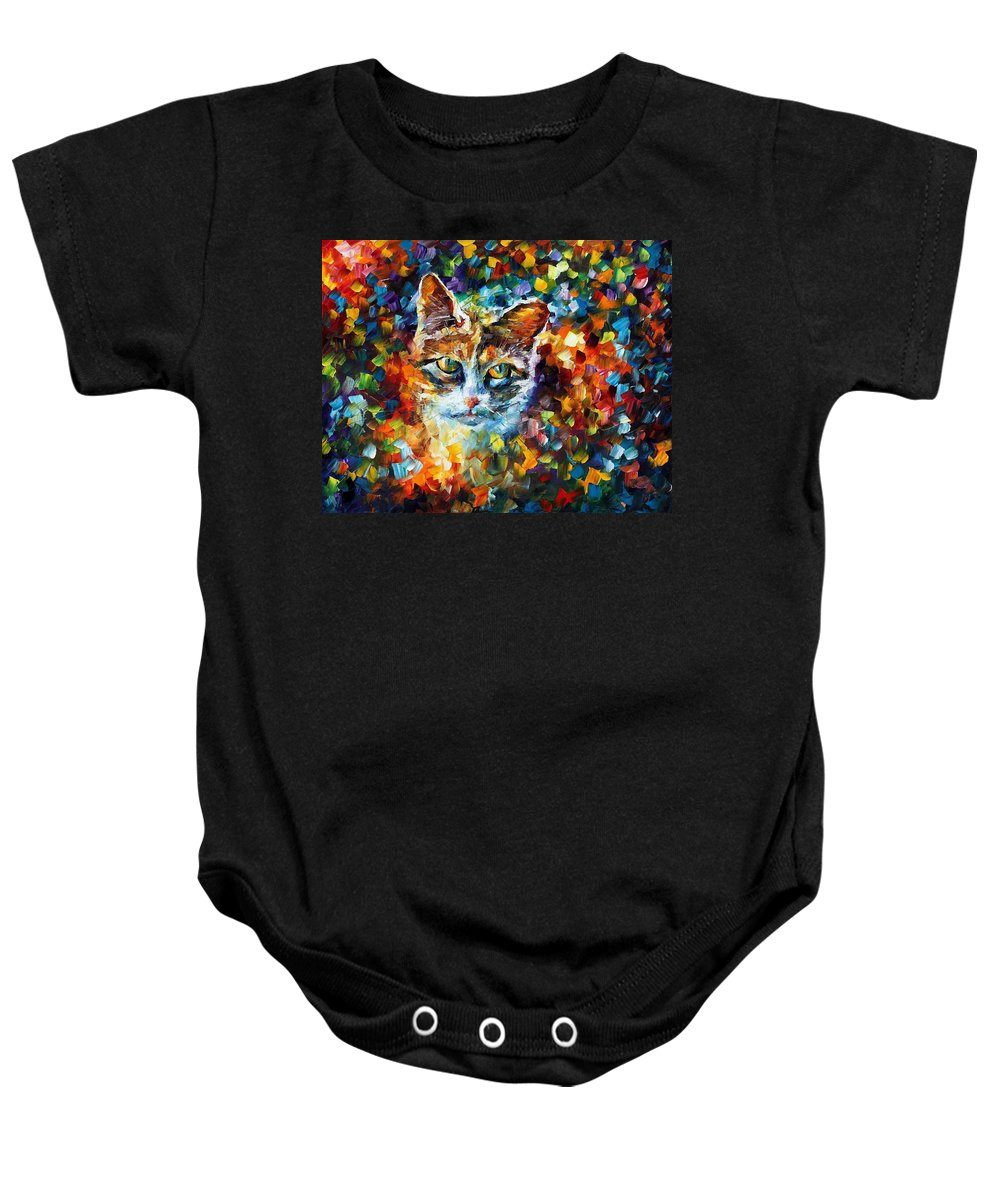 Afremov Baby Onesie featuring the painting Charming by Leonid Afremov