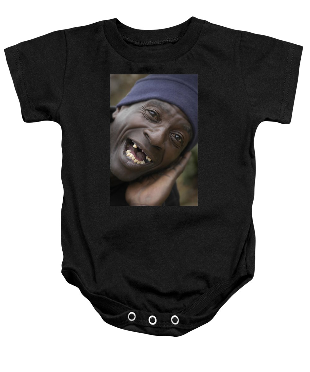 Toothless Baby Onesie featuring the photograph Cheese by D'Arcy Evans