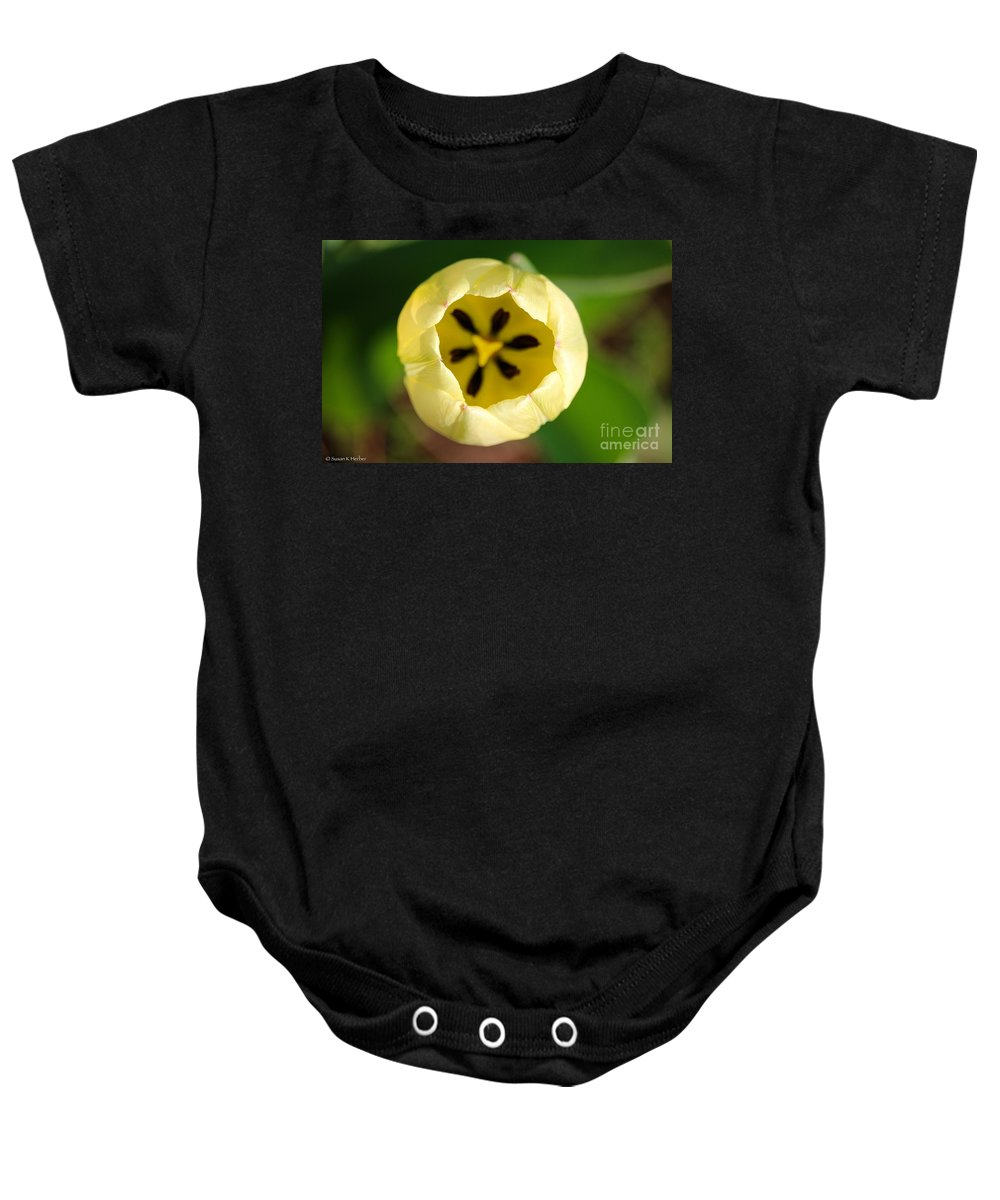 Flower Baby Onesie featuring the photograph Early Opener by Susan Herber
