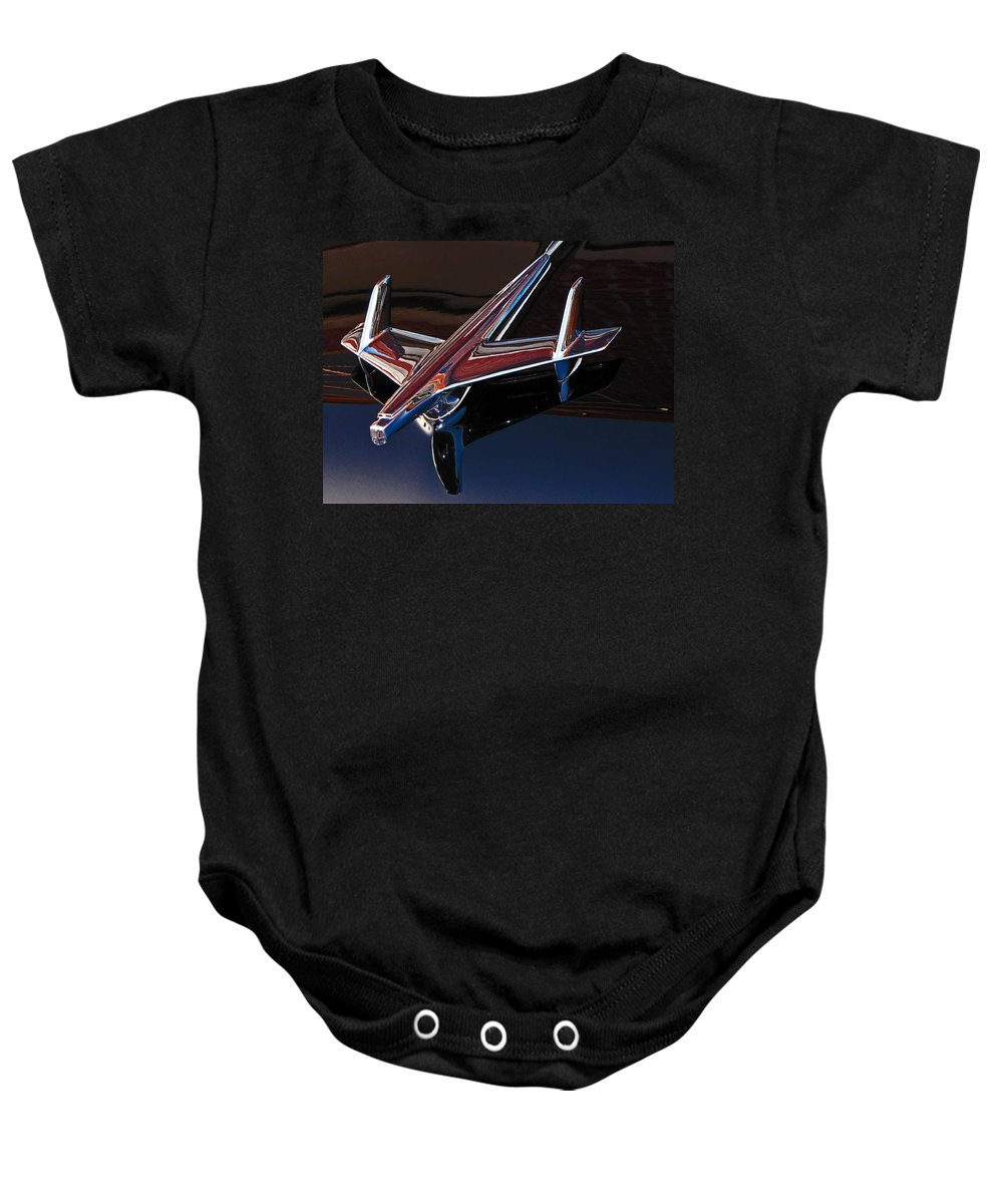 Chevrolet Baby Onesie featuring the photograph Chevy Hood Ornament by Gary Adkins