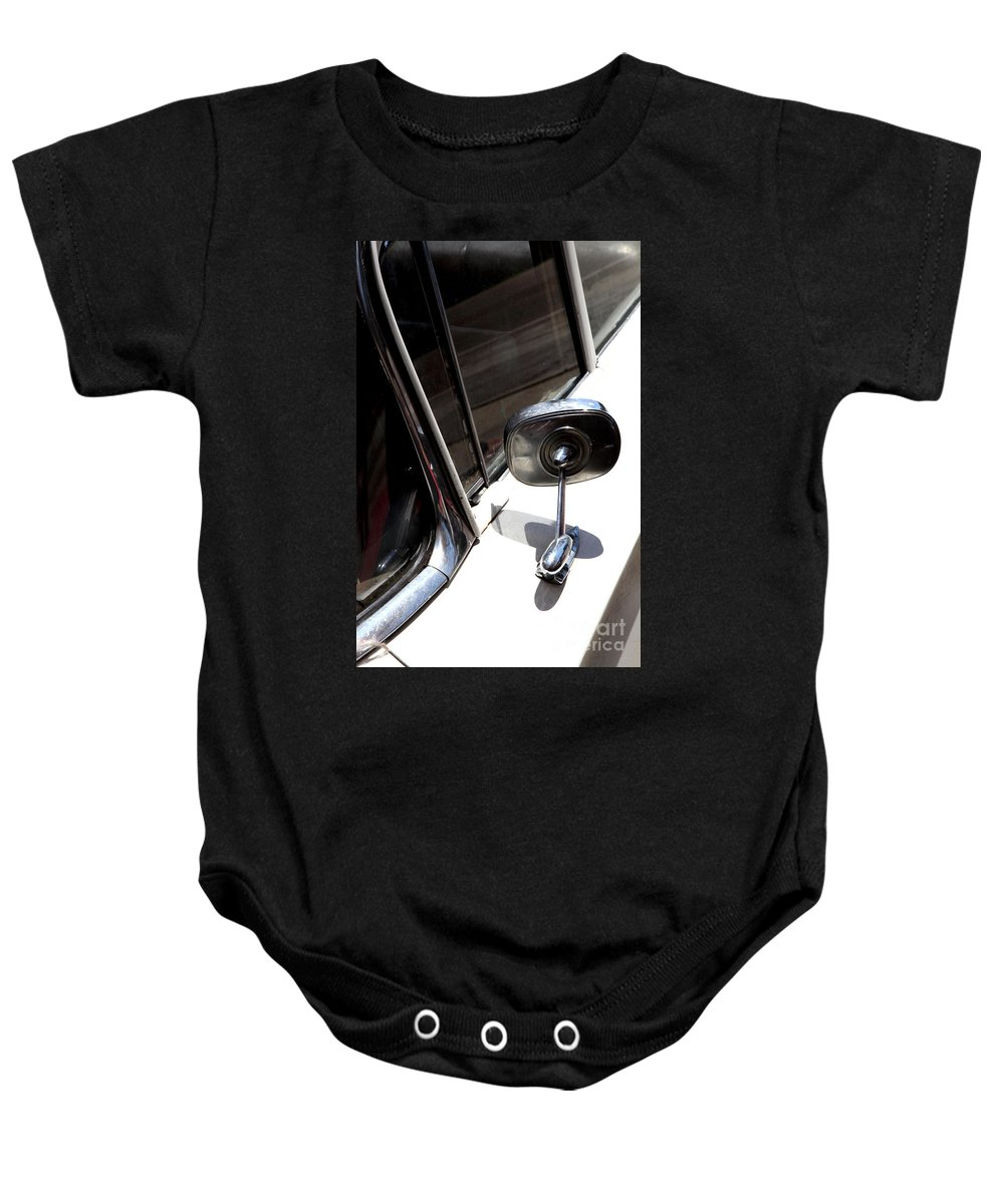 Biscayne Baby Onesie featuring the photograph Chevy Looking Back by Amanda Barcon