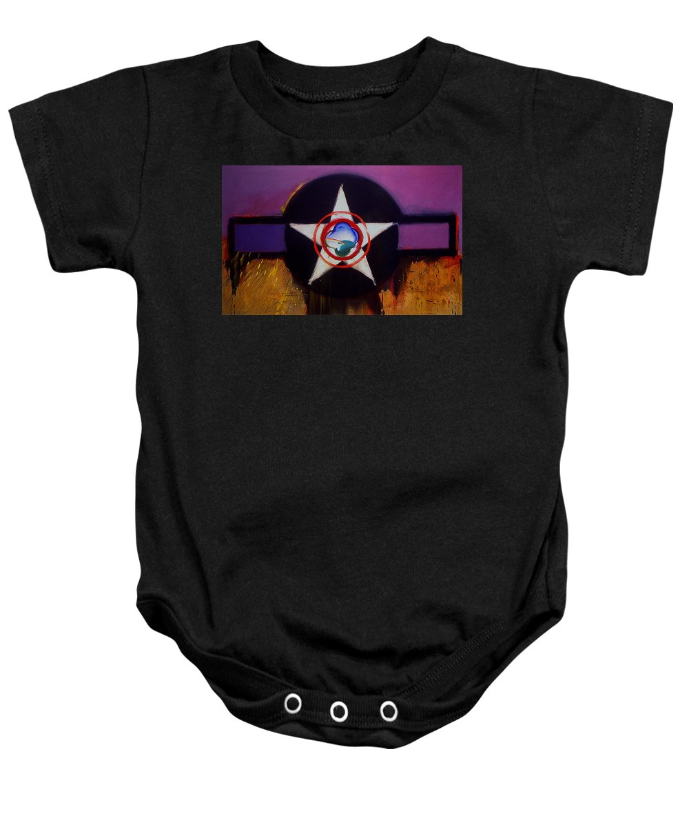 Air Force Insignia Baby Onesie featuring the painting Cheyenne Autumn by Charles Stuart