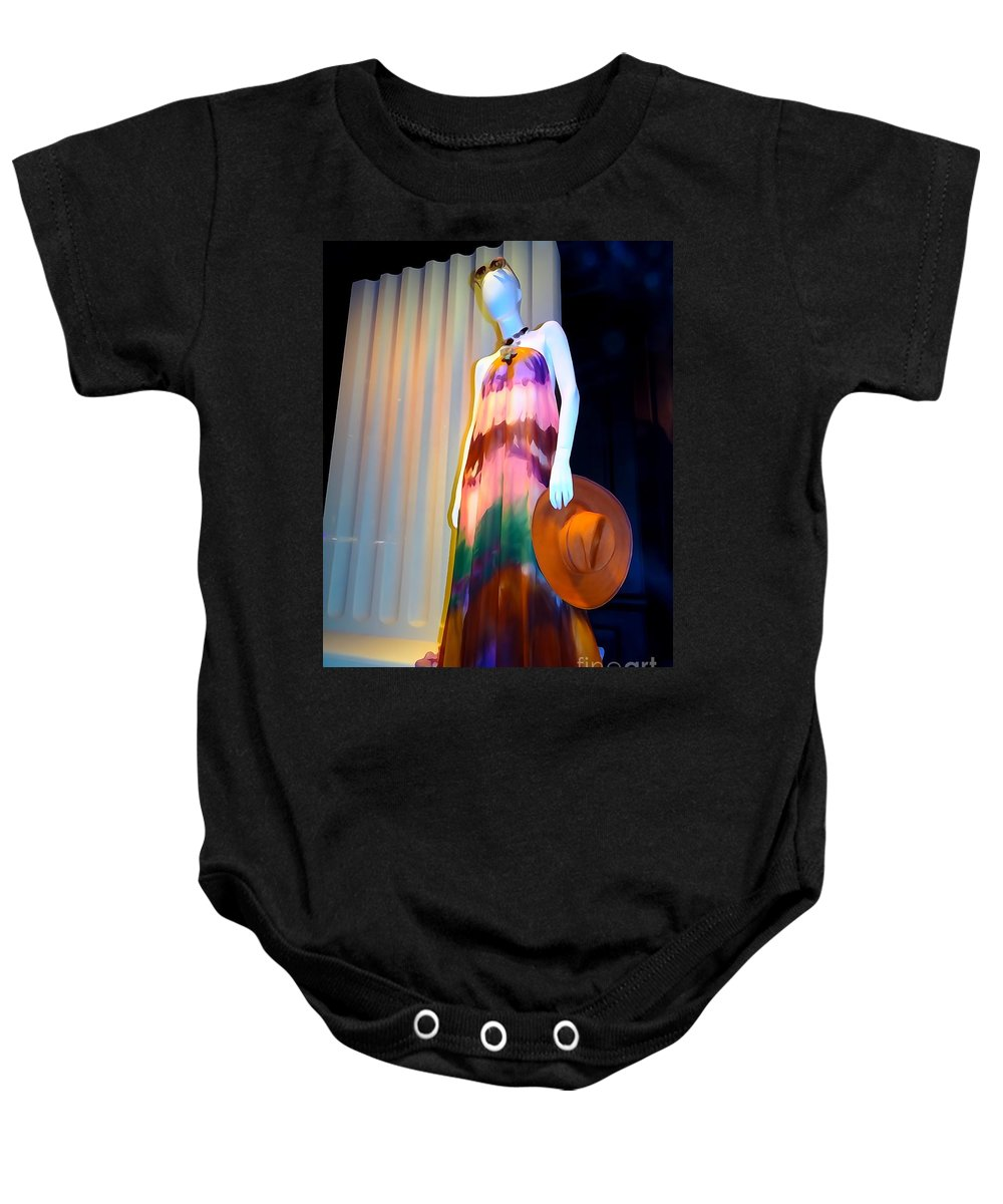 Digital Art Baby Onesie featuring the photograph Chic Cherie by Ed Weidman