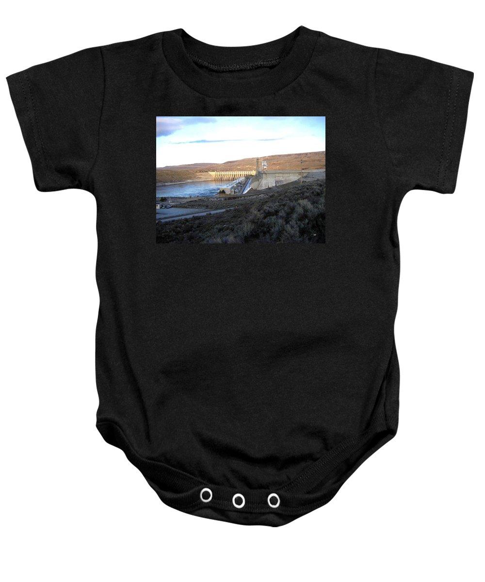 Chief Joseph Dam Baby Onesie featuring the photograph Chief Joseph Dam by Will Borden