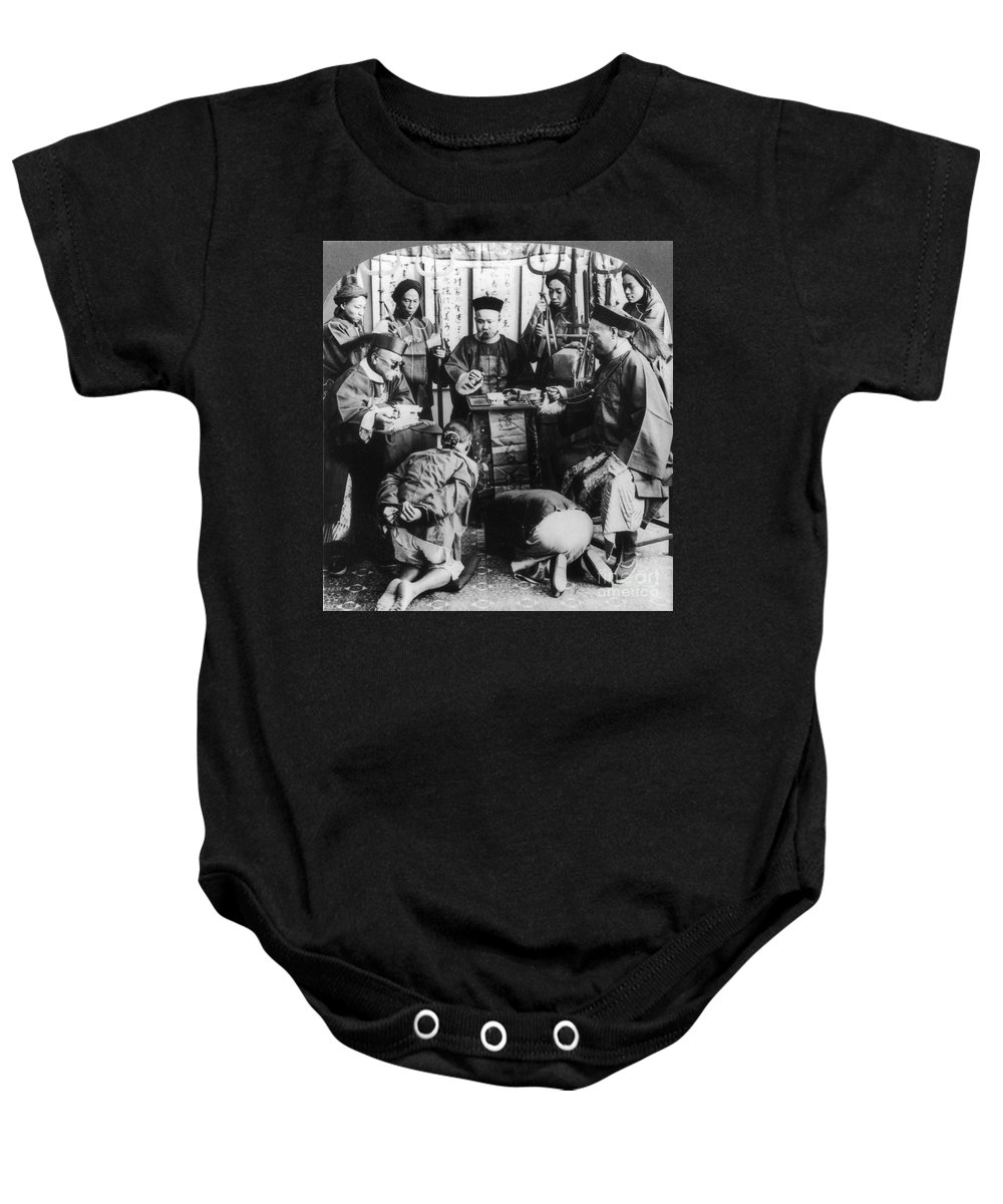 1900 Baby Onesie featuring the photograph China: Boxer Trial, C1900 by Granger