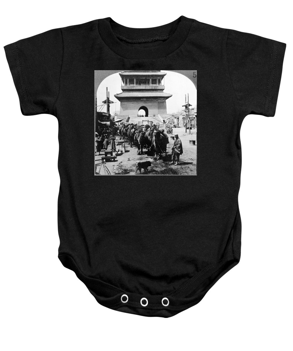 1919 Baby Onesie featuring the photograph China: Caravan, C1919 by Granger