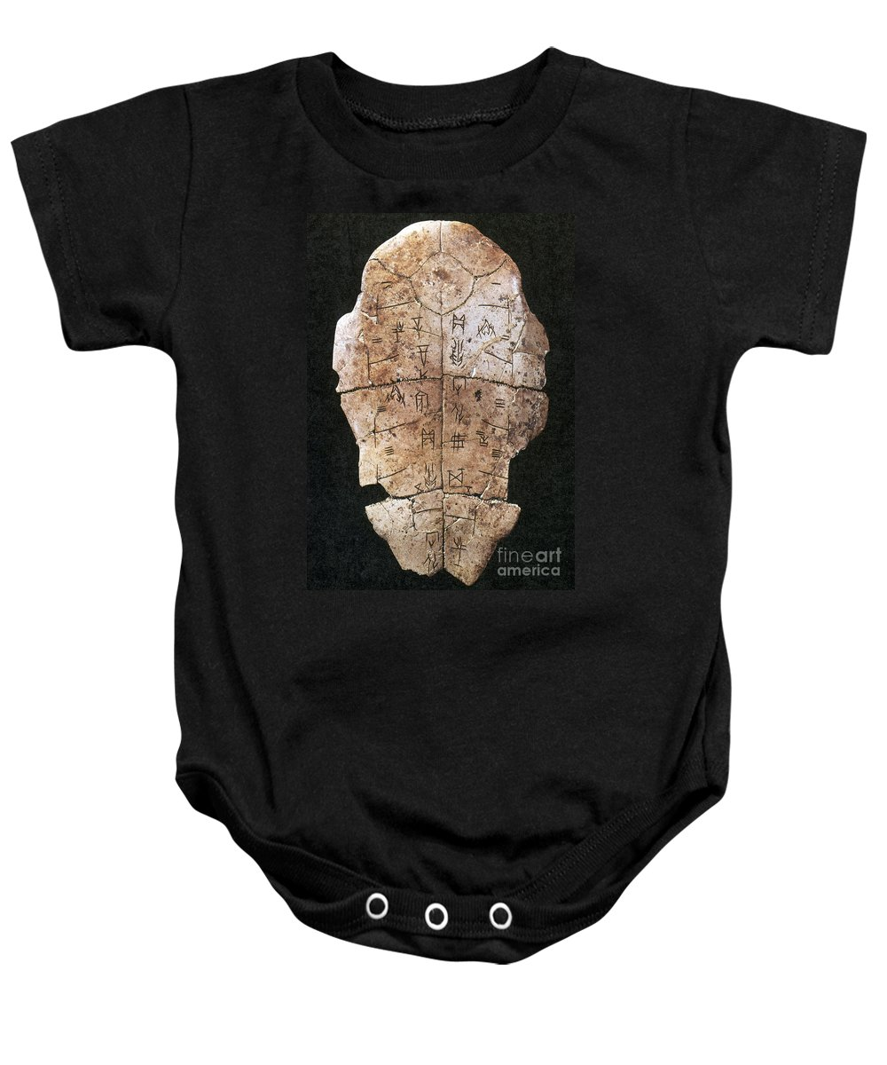 2nd Millennium B.c Baby Onesie featuring the photograph China: Oracle Shell by Granger