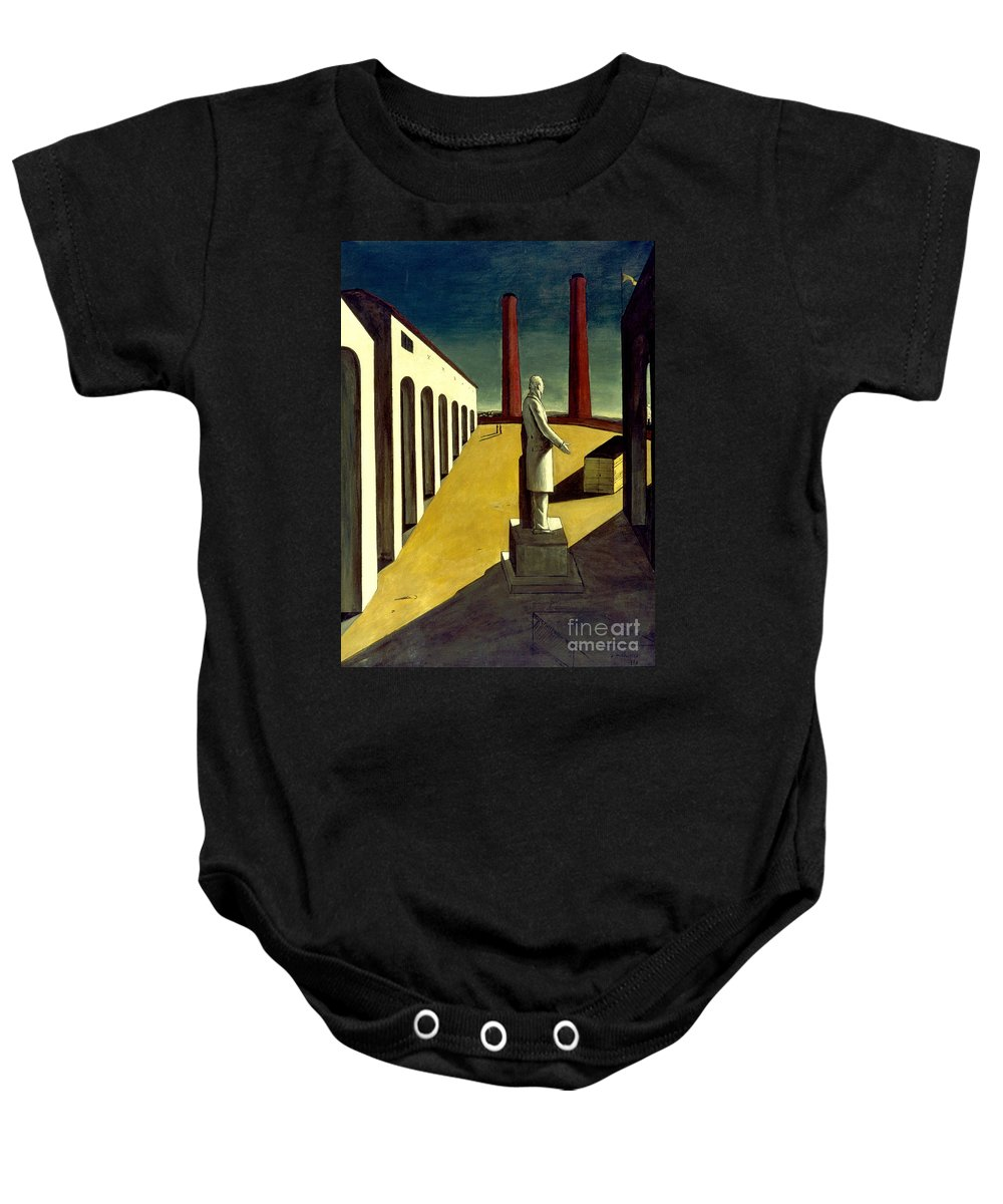 1914 Baby Onesie featuring the photograph Chirico: Enigma, 1914 by Granger