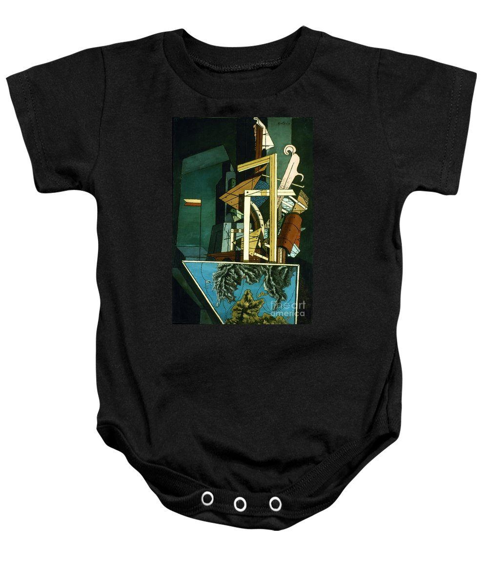 1916 Baby Onesie featuring the photograph Chirico: Melancolie by Granger