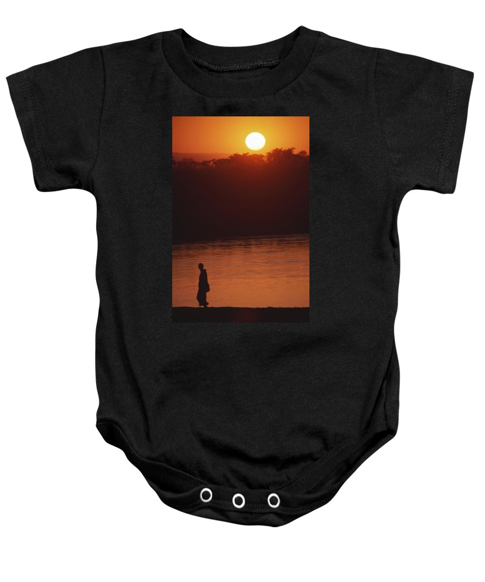 Sunset Baby Onesie featuring the photograph Chitwan Sunset by Patrick Klauss